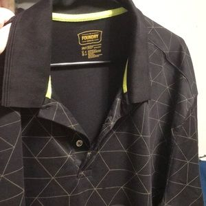 Men's Black polo shirt 3XLT!